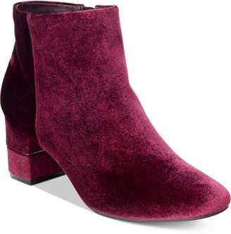 Alfani Women's Nickki Step 'N Flex Block-Heel Ankle Booties, Created For Macy's Women's Shoes