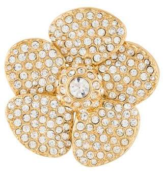 Saint Laurent Crystal Flower Brooch