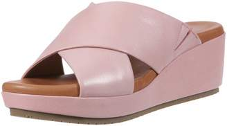 Gentle Souls by Kenneth Cole Women's Mikenzie Platform X-Band Slide Sandal Sandal