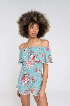 Ardene Floral off shoulder romper