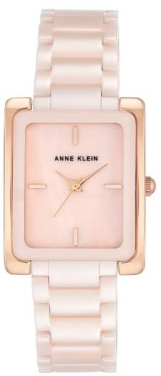 Anne KleinWomen's Anne Klein Rectangle Ceramic Bracelet Watch, 28Mm X 35Mm