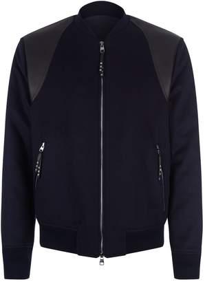 Alexander McQueen Multi-Textured Bomber Jacket