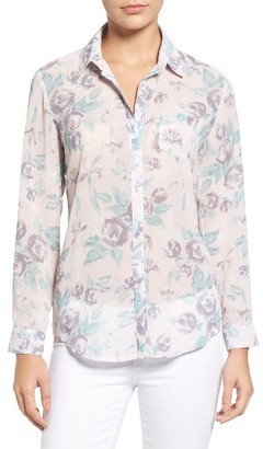 Women's Kut From The Kloth Esperanza Button Back Floral Blouse $78 thestylecure.com