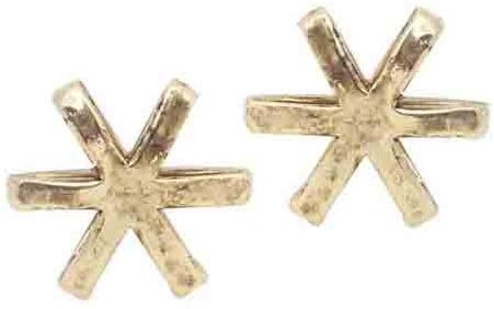 Low Luv - Women's Cosmo Stud Earrings - Gold