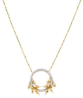 Phillips House 14K Diamond Open Petal Perennial Pendant Necklace