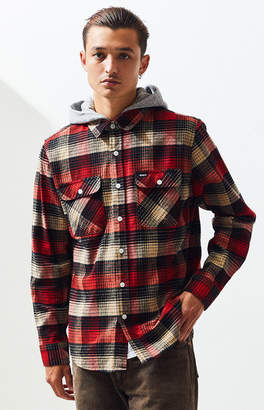 Brixton Bowery Hooded Plaid Flannel Shirt