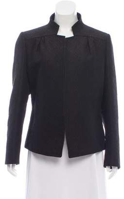 Dries Van Noten Wool-Blend Open Front Jacket