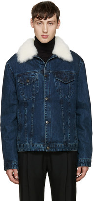Yves Salomon Indigo Denim & Shearling Jacket $2,350 thestylecure.com