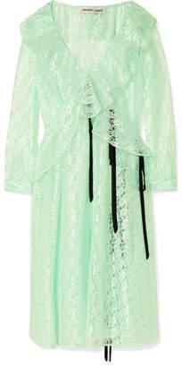 Sandy Liang - Carmen Ruffled Lace Midi Dress - Mint