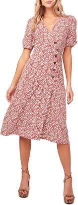 ASTR the Label Kinsley Micro Print Wrap Dress