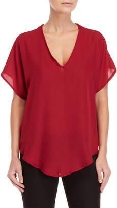 Lush Kimono Sleeve Woven Top