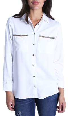 KUT from the Kloth Danny Sequin Pocket Shirt