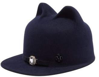 Maison Michel Jamie Felt Hat - Womens - Navy