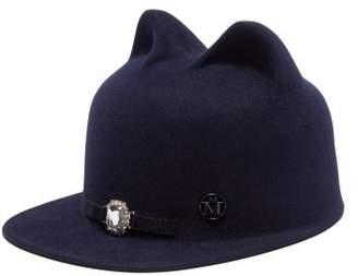 Maison Michel Jamie Felt Hat - Womens - Navy