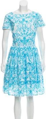 Oscar de la Renta Printed Shift Dress w/ Tags