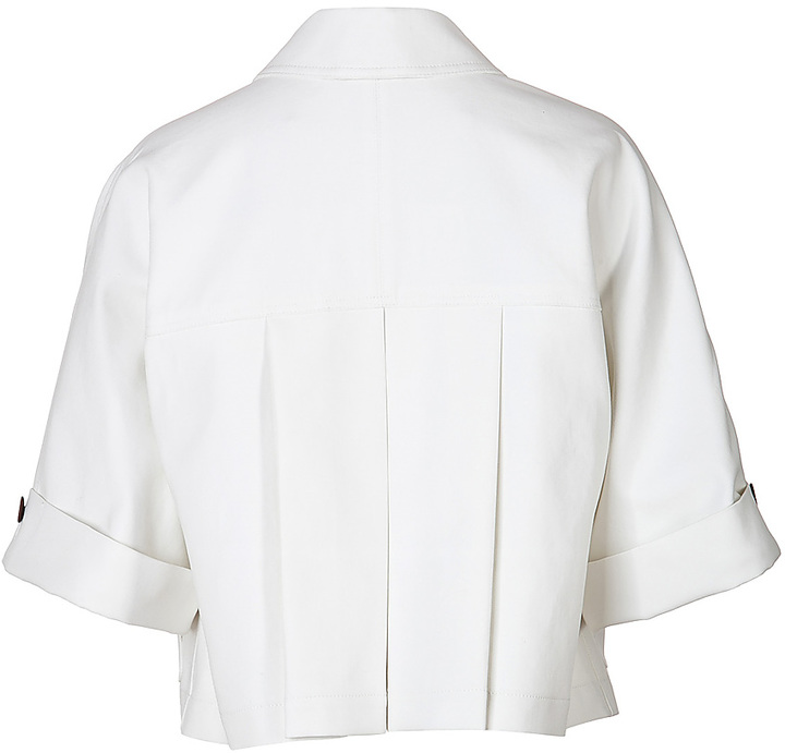 Burberry Cotton Cropped Sleeve Jacket