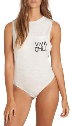 Women's Billabong Just A Few Muscle Tee Bodysuit $34.95 thestylecure.com