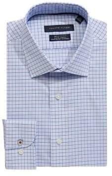 Tommy Hilfiger Windowpane Stretch Slim-Fit Dress Shirt