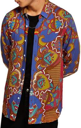 Topman African Baroque Classic Fit Shirt