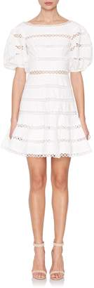 Zimmermann Short Sleeve Bowie Contour Hailspot Dress