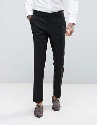 Asos Design Slim Tuxedo Suit Pants In Black