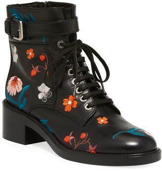 Laurence Dacade Solene 40mm Embroidered Combat Boots