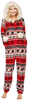 Asstd National Brand Fairisle Print One Piece Pajama