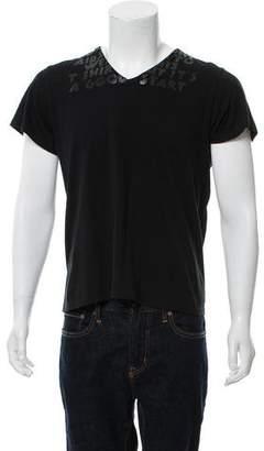 Maison Margiela AIDS Short Sleeve V-Neck Shirt