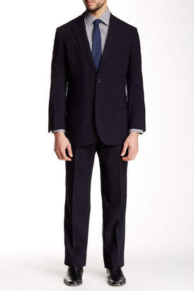 Brooks Brothers Navy Solid Two Button Notch Lapel Suit $698 thestylecure.com