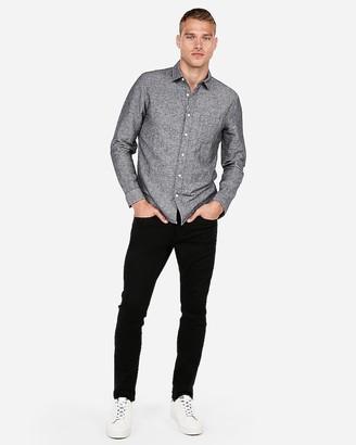 Express Slim Linen-Blend Shirt