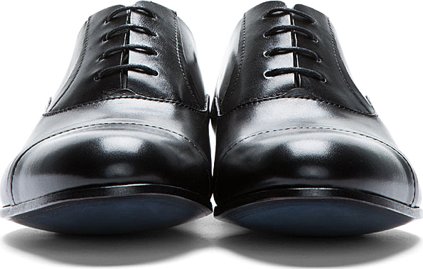 Lanvin Black Leather Classic Casual Shoes