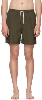 Solid and Striped Green Classic Swim Shorts