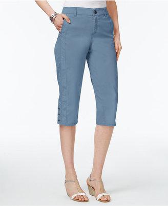 Style & Co Snap-Hem Capri Pants, Only at Macy's $49.50 thestylecure.com