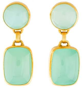Gurhan 24K Chalcedony Drop Earrings