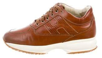 Hogan Leather Perforated Sneakers