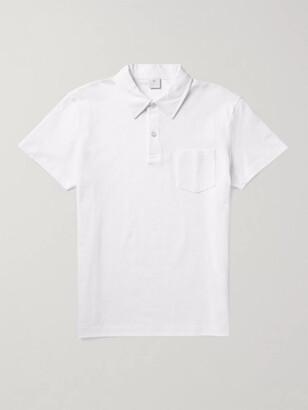 Sunspel Riviera Slim-Fit Cotton-Mesh Polo Shirt - Men - White