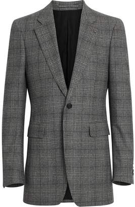 Burberry Slim Fit Prince of Wales Check Wool Tailored Jacket