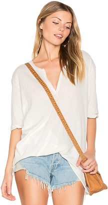 Nation LTD Juliette Tucked Up Henley in White $84 thestylecure.com