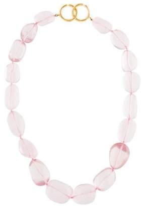 Tiffany & Co. 18K Rose Quartz Bead Necklace