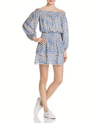 Parker Kara Off-the-Shoulder Silk Dress