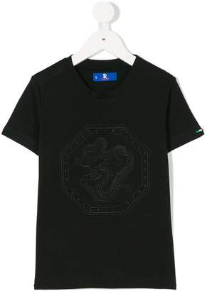 Stefano Ricci Kids dragon motif T-shirt