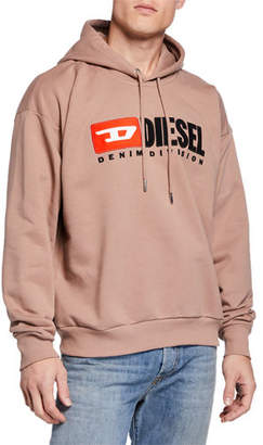 Diesel Men's 90s Denim Division Hoodie Sweatshirt