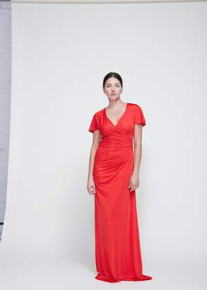 Lanvin Long Ruched Dress