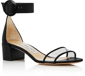 Jimmy Choo Women's Jaimie 40 Block Heel Sandals