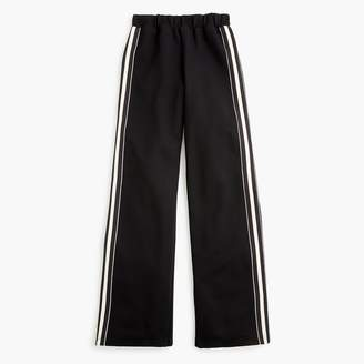 J.Crew Universal Standard for wide-leg ponte pant with stripe