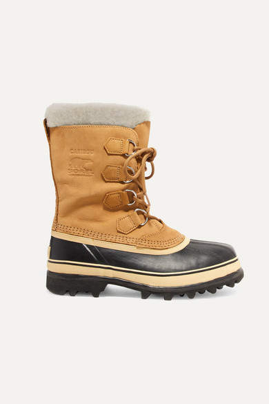 Sorel - Caribou Waterproof Suede And Rubber Boots - Tan