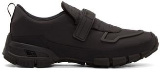 Prada Black Gabardine Strap Sneakers