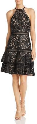 Avery G Sleeveless Lace Dress