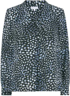 Next Womens Warehouse Animal Print V-Neck Pleat Top