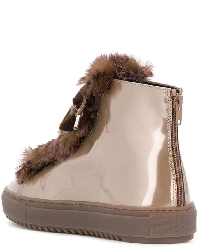 AGL fur embellished sneakers